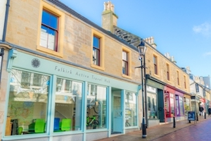 Front of Falkirk Active Travel Hub